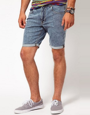 Image 1 ofASOS Denim Shorts With Acid Wash