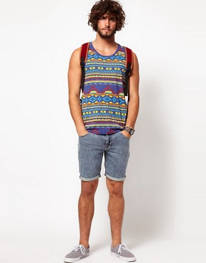Image 4 ofASOS Denim Shorts With Acid Wash