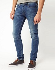 Diesel - Tepphar 0807S - Jeans skinny con lavaggio chiaro