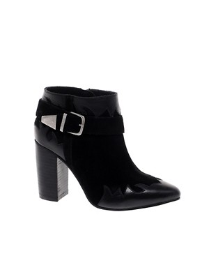 Image 1 ofASOS ANIMATE Leather Ankle Boots