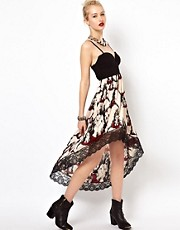 Freak Of Nature Hi Lo Dress In Desert Rose Print