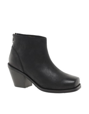 Image 1 ofASOS ARIELLE Leather Ankle Boots with Chisel Toe