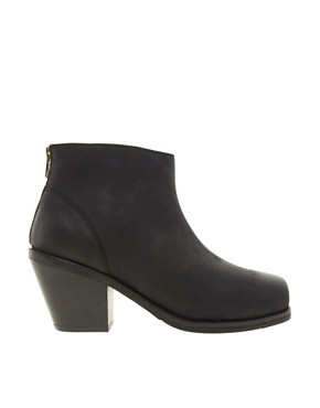 Image 4 ofASOS ARIELLE Leather Ankle Boots with Chisel Toe