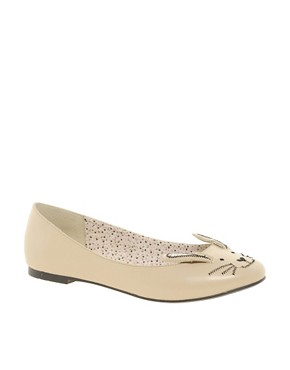 Image 1 ofASOS LITTLE MISS Ballet Flats