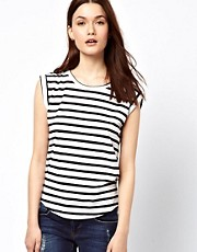 Warehouse Stripe Boyfriend T-Shirt