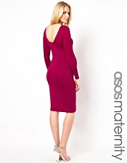 ASOS Maternity Midi Bodycon Dress With Square Back