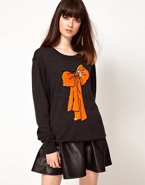 Image 1 ofMarkus Lupfer Sequin Bow Knitted Tunic