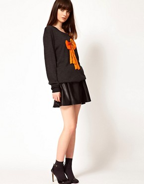 Image 4 ofMarkus Lupfer Sequin Bow Knitted Tunic
