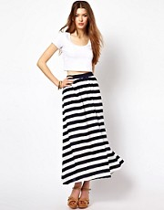 Traffic People Stripe Maxi Skirt