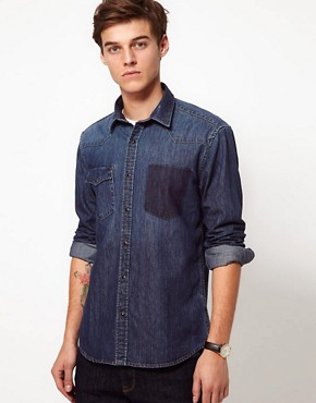 Image 1 ofSelected Denim Shirt