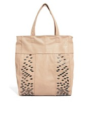 Pieces Geba Nude Shopper Bag