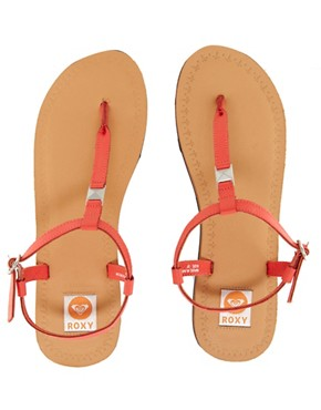 Image 2 ofRoxy Leather Strap Sandals