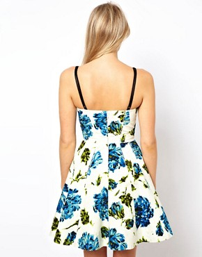 Image 2 ofASOS Full Circle Dress With Floral Print