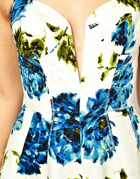 Image 3 ofASOS Full Circle Dress With Floral Print
