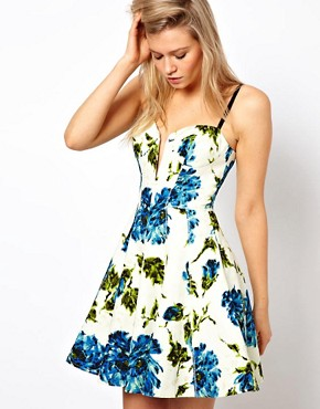 Image 1 ofASOS Full Circle Dress With Floral Print