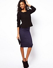 ASOS Pencil Skirt in Denim Look