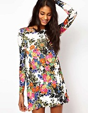 Oh My Love Swing Dress in Floral Print