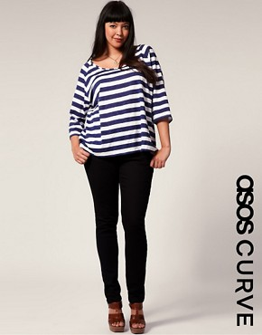 Image 1 ofASOS CURVE Black Skinny Jean