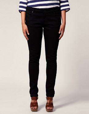 Image 4 ofASOS CURVE Black Skinny Jean