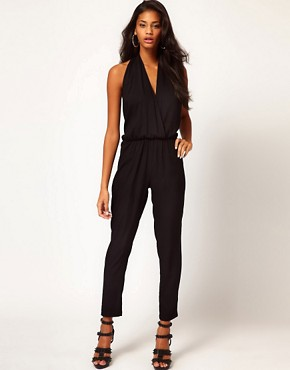 Image 1 ofASOS Sexy Halter Jumpsuit