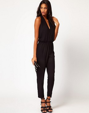 Image 4 ofASOS Sexy Halter Jumpsuit