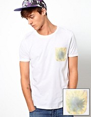 ASOS T-Shirt With Tie Dye Print Pocket