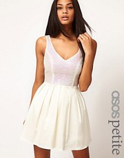 ASOS PETITE Prom Dress With Sequin Top
