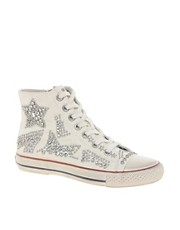Ash Vibration Bis Stud High Top Trainers
