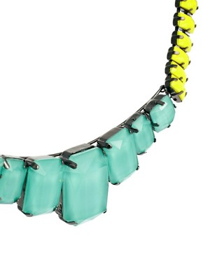 Image 3 ofASOS Faceted Bead Collar Necklace