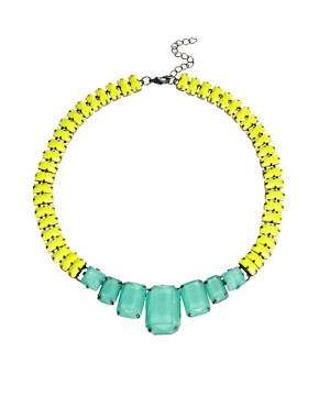 Image 1 ofASOS Faceted Bead Collar Necklace