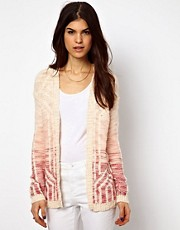 Warehouse - Cardigan con motivo geometrico sfumato