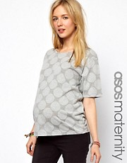 ASOS Maternity Top in Reverse Spot