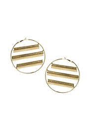Yasmin By Gogo Philip Hoop Earrings with Cut Out Design