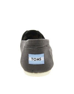 Image 4 ofTOMS Classic Grey Canvas Flat Shoes
