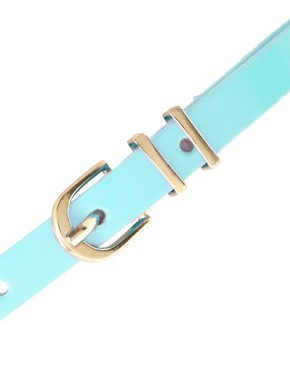 Image 2 ofASOS Pastel Metal Keeper Super Skinny Waist Belt
