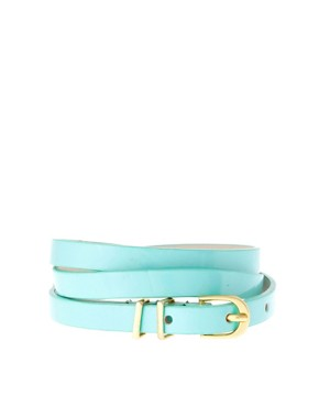 Image 1 ofASOS Pastel Metal Keeper Super Skinny Waist Belt