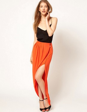 Image 1 ofKore by Sophia Kokosalaki Ruched Zip Wrap Skirt