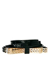ASOS Cutwork Bow Skinny Waist Belt