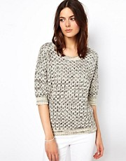 Vanessa Bruno Ath Salt and Pepper Cotton Knitted Jumper