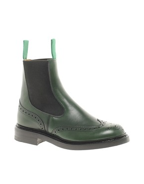 Image 1 ofTrickers Silvia Green Chelsea Boots