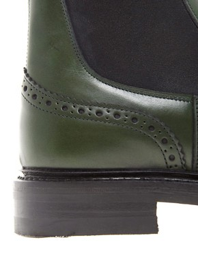 Image 3 ofTrickers Silvia Green Chelsea Boots