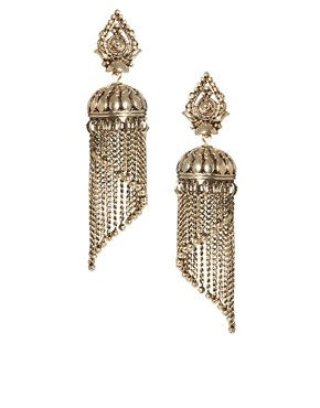 Image 1 ofASOS Mini Lampshade Tassel Earrings