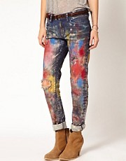 Denim &amp; Supply By Ralph Lauren Boyfriend Paint Jeans