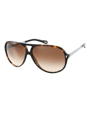 Image 1 ofDolce &amp; Gabbana Aviator Sunglasses