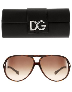 Image 2 ofDolce &amp; Gabbana Aviator Sunglasses