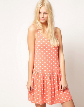 Image 1 ofASOS Summer Dress In Spot Print