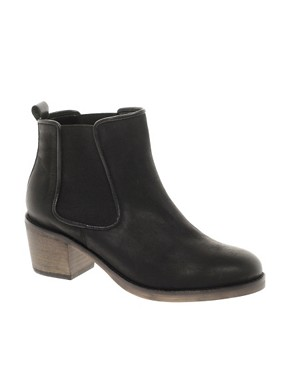 Image 1 ofASOS ALBUM Leather Ankle Boots