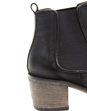 Image 2 ofASOS ALBUM Leather Ankle Boots