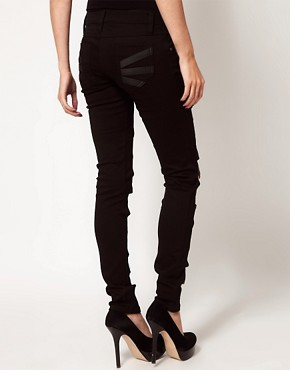 Image 2 ofTripp Nyc Leather Look Z Cut Skinnies