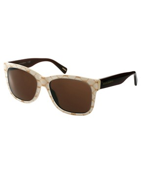 Image 1 ofDolce And Gabanna Gold On Beige Sunglasses